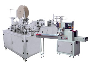 HD-0426 Automatic Production Line for 4 ply Earloop Mask with Packaging Unit